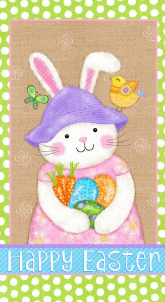 Osterhase Stoff Panel Carrot Patch Happy Easter