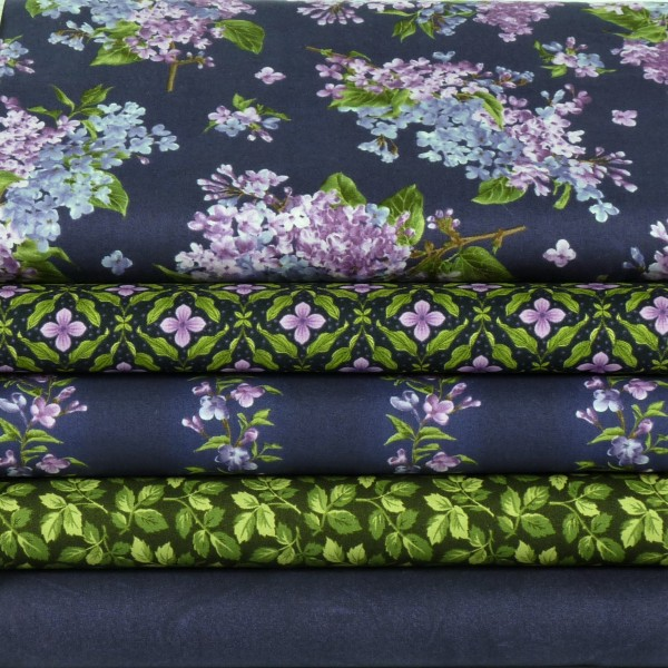 Fresh Lilacs Lila Patchwork Stoffpaket