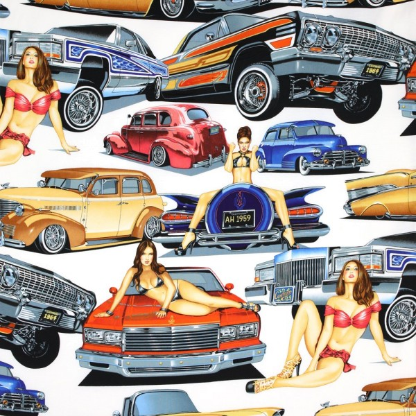 Autos & Frauen Stoff Low and Slow