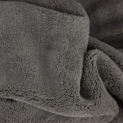 Microfaser Fleece Stoff Chantal Dunkelgrau