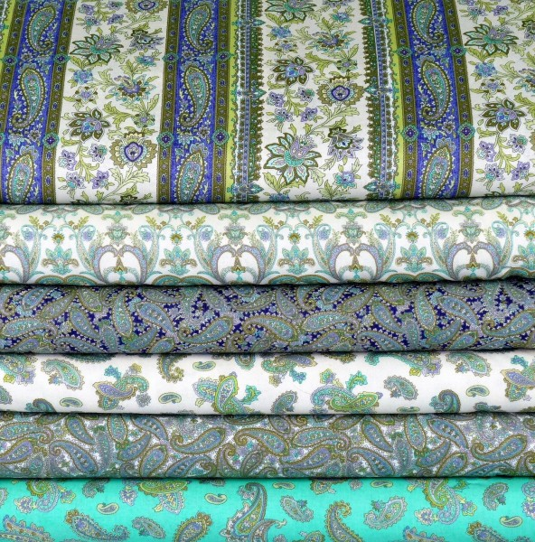 Briarcliff Paisley Patchwork Stoffpaket