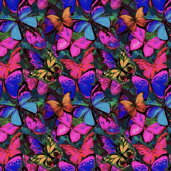 Schmetterlinge Stoff Packed Butterflies in Flight