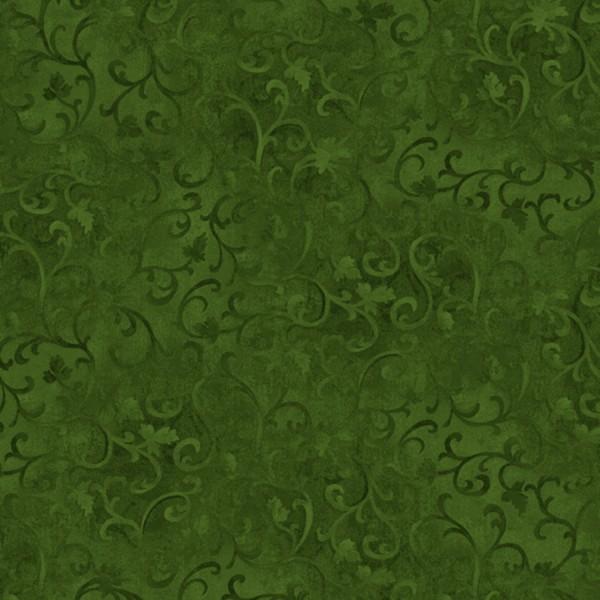 Ranken Stoff Grün Forest Green Scroll Essentials