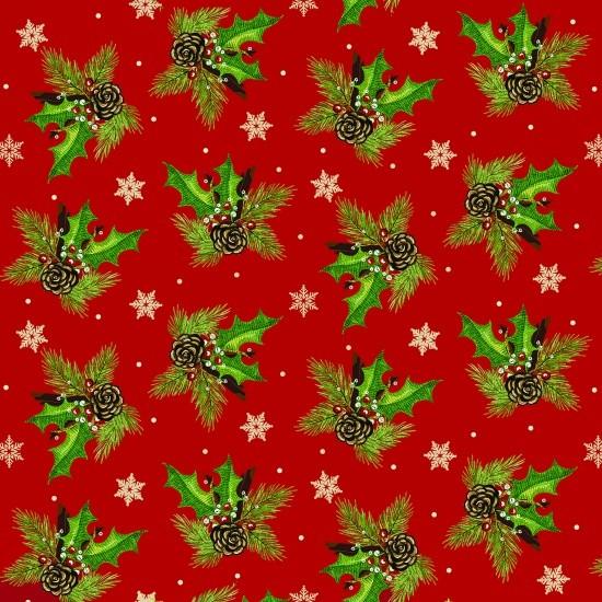 Ilex Weihnachtsstoff Time of Wonder Holly