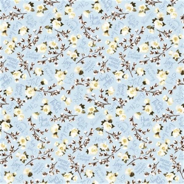 Blumen Stoff Believe Tossed Cotton