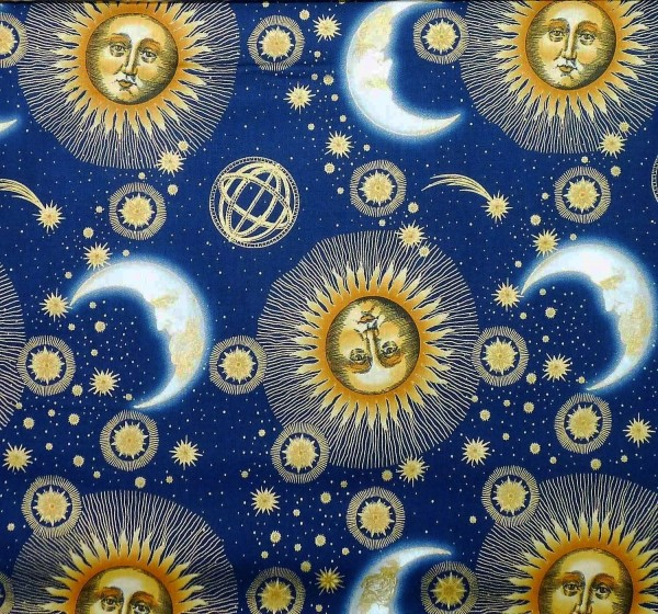Patchworkstoffe Celestial Collection Blau