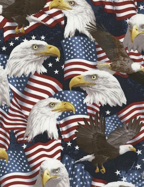 Eagles USA Stoff Adler Amerikanische Flagge