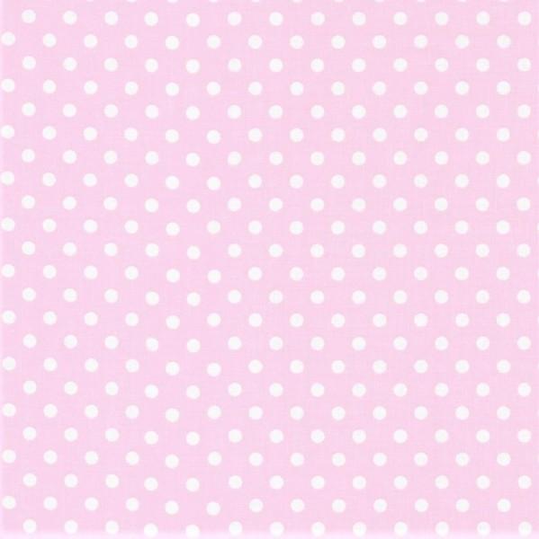Baumwollstoff Dots 7mm Hellrosa Weiß