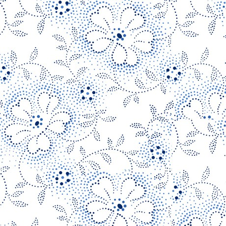 Danbury Blumen Stoff Weiß