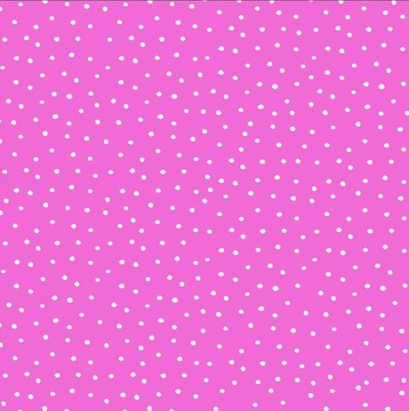Dinky Dots Punkte Pink Weiß