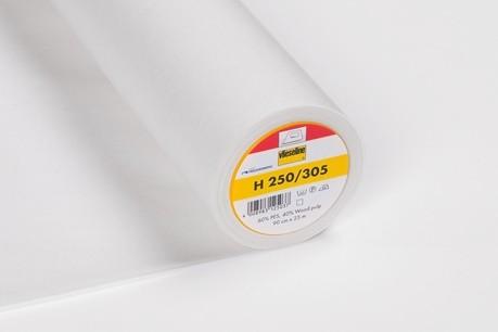 H 250 Stabile Bügeleinlage Weiß 90cm breit
