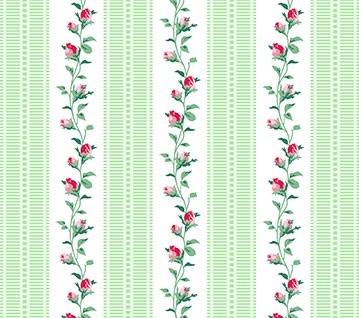 Schmale Streifen Grün Julia's Garden Vine Stripe