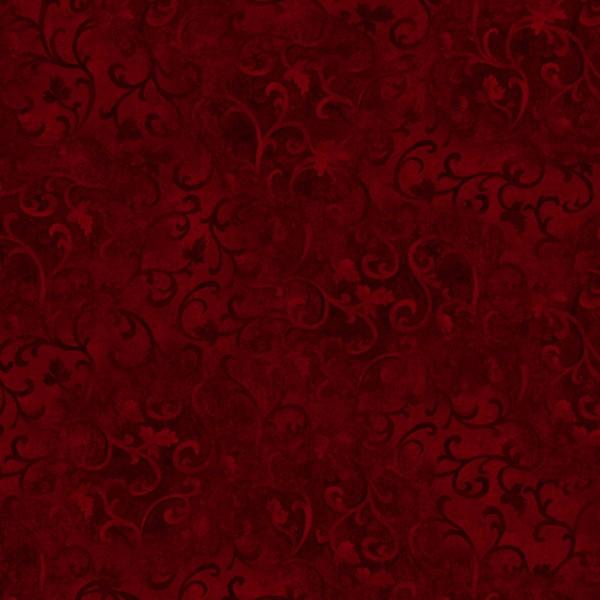 Ranken Stoff Weinrot Burgundy Scroll Essentials
