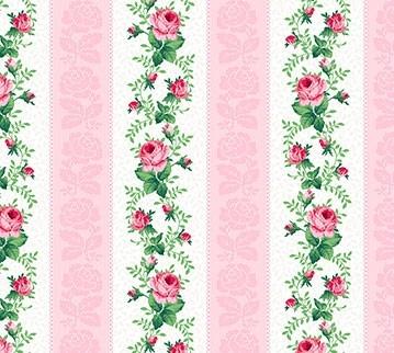 Julia's Garden Floral Stripe Pink