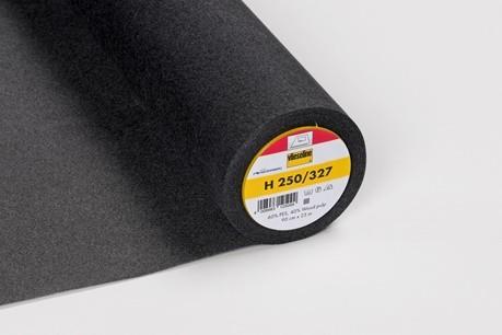 H 250 Stabile Bügeleinlage Schwarz 90cm breit