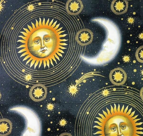 Ceelstial Collection Sonne, Mond und Sterne schwarz