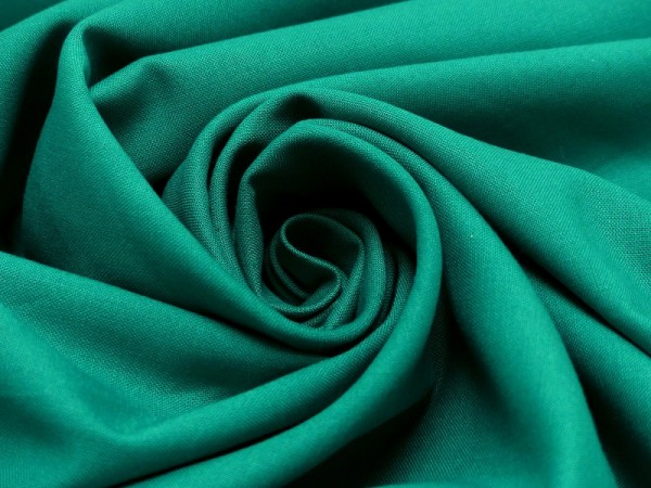 Baumwollstoff Uni Smaragdgrün 47