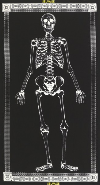 Mr. Bones Stoff Panel Skelett