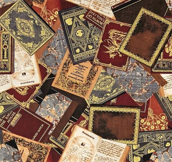 Bücher Stoff Renaissance Man Metallic Brown