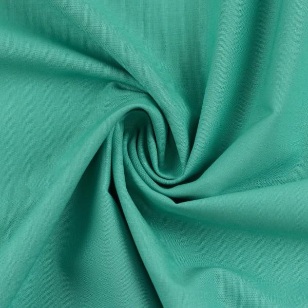 Baumwollstoff Uni Smaragd 841