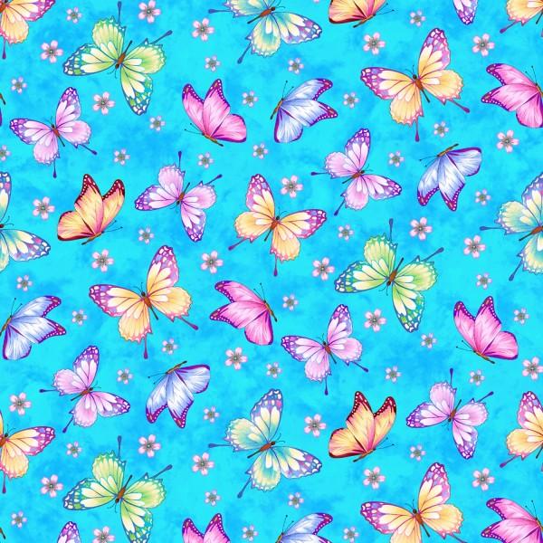 Schmetterlinge Stoff Sky Butterflies
