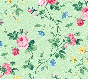 Julia's Garden Floral Vine Grün
