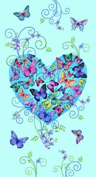 Butterfly Paradise Schmetterlinge Panel