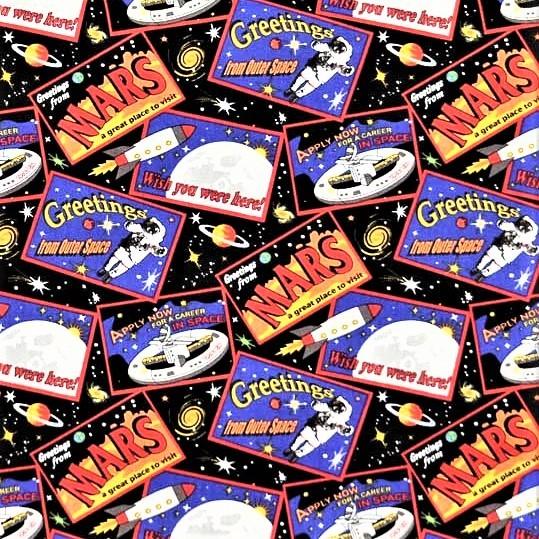 Postkarten Stoff Spacewalk Tossed Postcards