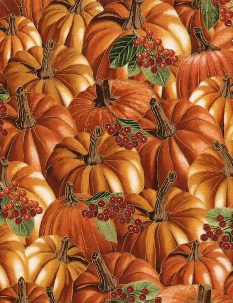Kürbis Beeren Stoff Herbst Pumpkins