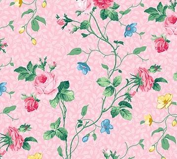 Julia's Garden Floral Vine Pink