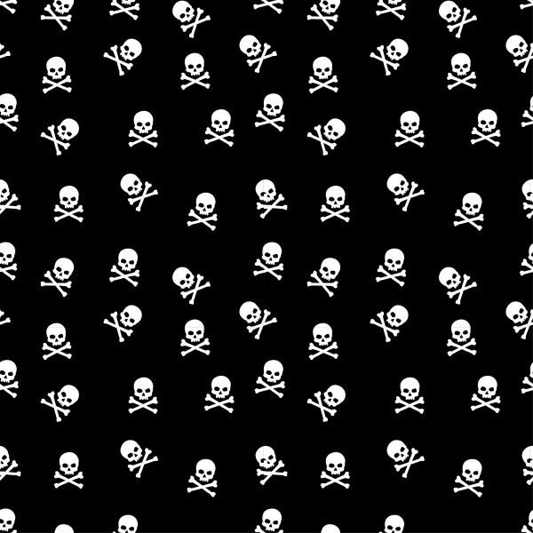 Totenköpfe Schwarz Weiß Baumwollstoff Webware