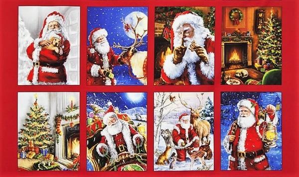Weihnachtsmann Stoff Panel Jolly Saint Nick