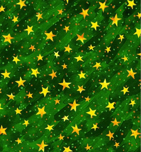 Sterne Stoff Grün Noel Weihnachtsstoff