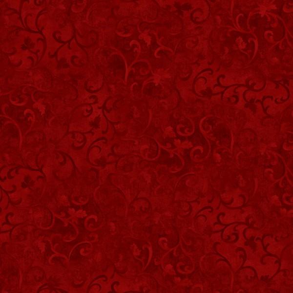 Ranken Stoff Dunkelrot Red Scroll Essentials