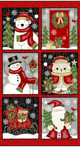 Winter Greetings Blocks Weihnachtsstoff