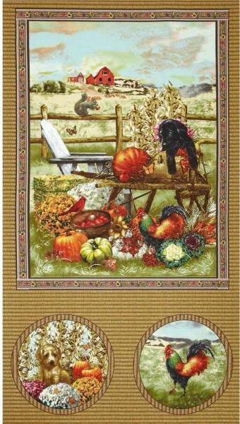 Autumn Bounty Panel Hunde Herbst