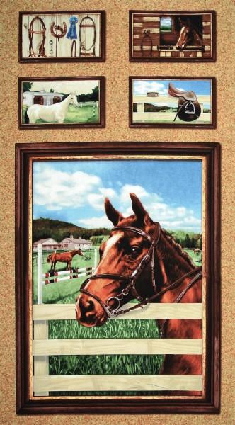 World of Horses Panel Pferde