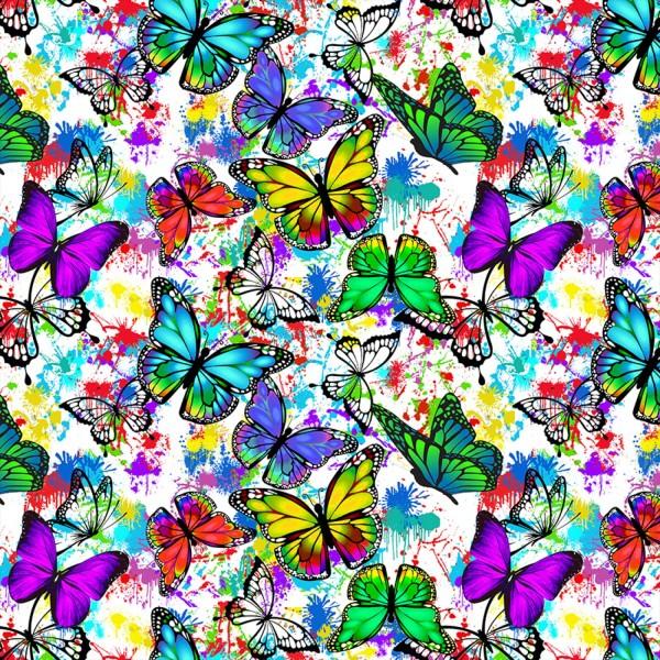 Schmetterlinge Stoff Butterflies in Flight
