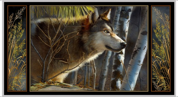 Wolf Stoff Panel Majestic Wolves Digitaldruck