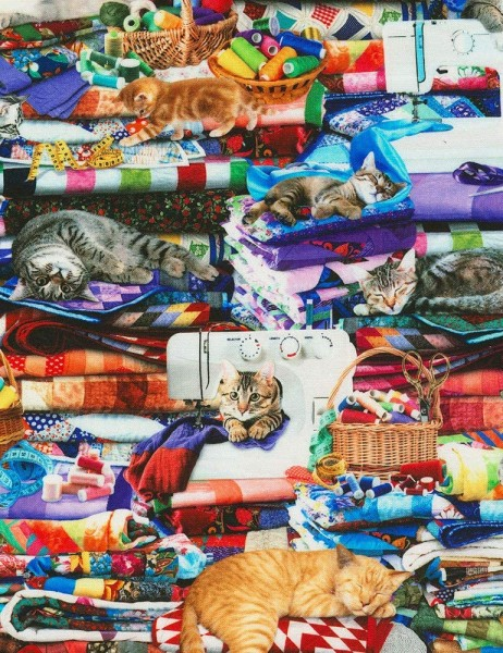 Cats on Quilts Katzen Digitaldruck