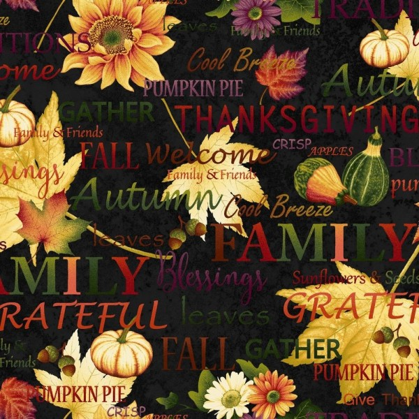 Autumn Album Thanksgiving Patchworkstoff Herbst