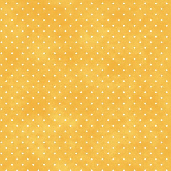 Punkte Stoff Classic Dot Saffron Gelb
