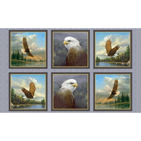 Adler Stoff Panel Majestic Eagles Patches
