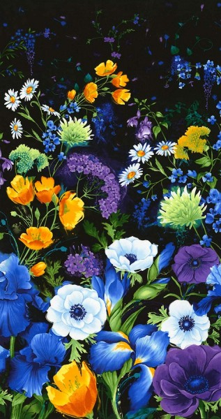 Blumen Stoff Panel Floral Reverie
