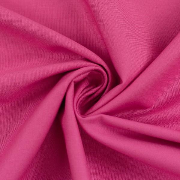 Baumwollstoff Uni Pink 934