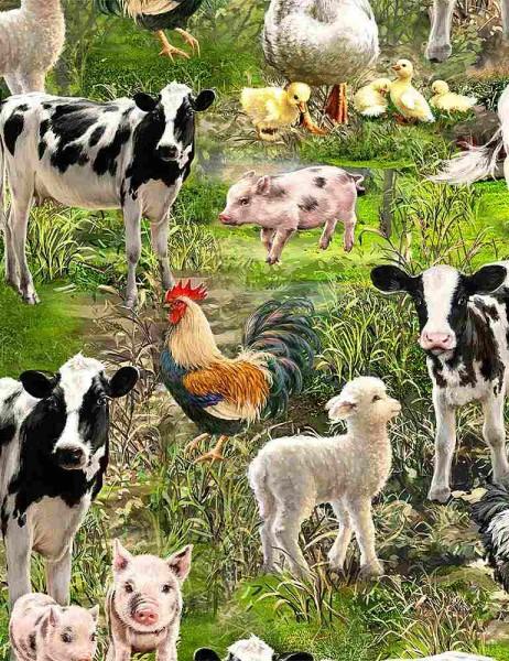 Bauernhof Tiere Stoff Farm Animals
