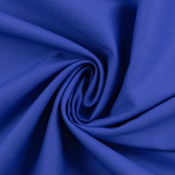 Baumwollstoff Uni Royal Blau 254