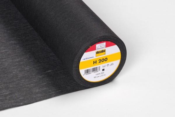 H 200 Leichte Vlieseinlage Schwarz 90cm breit