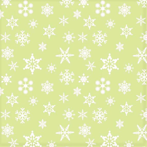 Schneeflocken Stoff Hellgrün Snowflakes Green