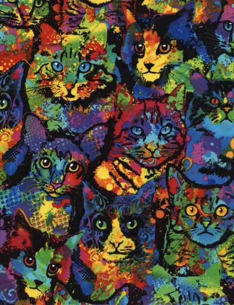 Paint Splatter Cats Katzen
